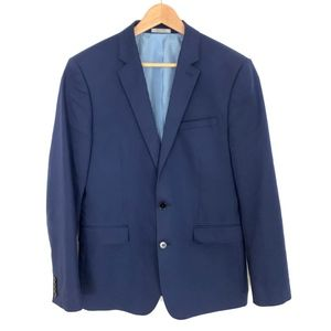 Express Photographer Fitted Blue Sport Coat